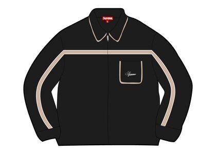 Supreme Chest Stripe Zip Up Cardigan Black (FW21)の写真