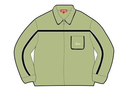 Supreme Chest Stripe Zip Up Cardigan Green (FW21)の写真