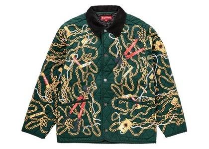 Supreme Chains Quilted Jacket Dark Greenの写真