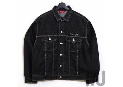 Supreme Smurfs Denim Trucker Jacket Blackの写真