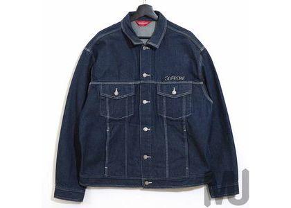 Supreme Smurfs Denim Trucker Jacket Blueの写真