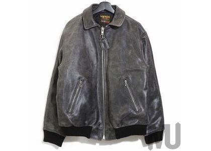 Supreme Vanson Leathers Worn Leather Jacket Blackの写真