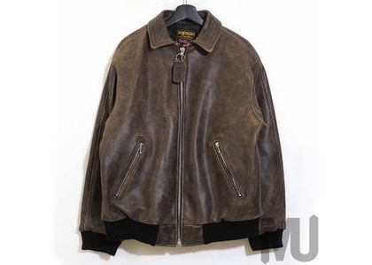 Supreme Vanson Leathers Worn Leather Jacket Brownの写真