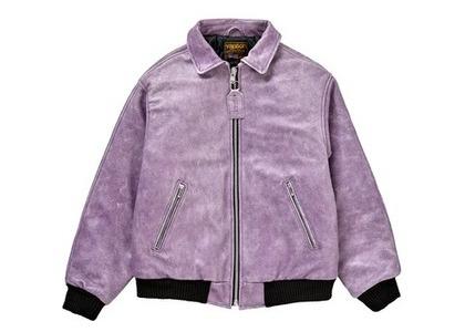 Supreme Vanson Leathers Worn Leather Jacket Dark Purpleの写真