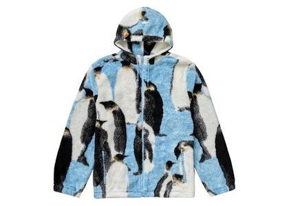 Supreme Penguins Hooded Fleece Jacket Blueの写真