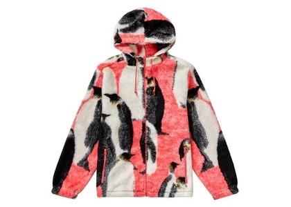 Supreme Penguins Hooded Fleece Jacket Pinkの写真