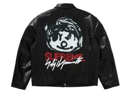 Supreme Yohji Yamamoto Leather Work Jacket Blackの写真