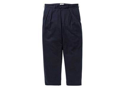 Wtaps Tuck 01 Trousers Cotton Flannel Navyの写真