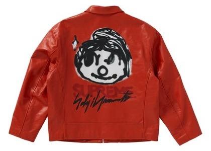 Supreme Yohji Yamamoto Leather Work Jacket Orangeの写真