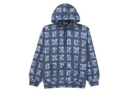 Supreme Blocks Hooded Sweatshirt Navyの写真