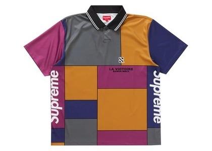 Supreme Colorblocked Soccer Polo Purpleの写真