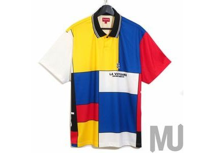 Supreme Colorblocked Soccer Polo Redの写真