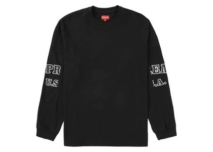 Supreme Cutout Sleeves L-S Top Blackの写真