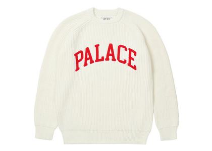 Palace Collegiate Knit White (FW21)の写真