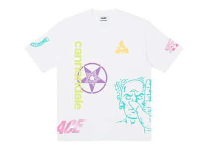 Palace x Cannondale Mad Boy T-shirt White (FW21)の写真