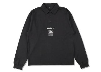 umbro × WIND AND SEA L/S Polo Shirt Blackの写真