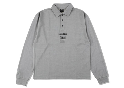 umbro × WIND AND SEA L/S Polo Shirt Grayの写真