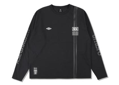umbro × WIND AND SEA L/S T-Shirt Blackの写真