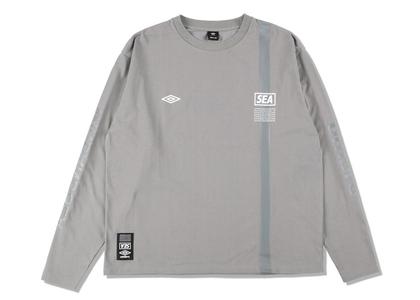 umbro × WIND AND SEA L/S T-Shirt Grayの写真