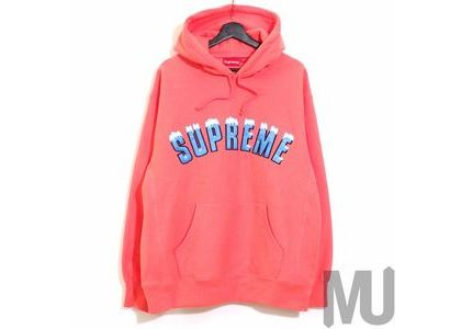 Supreme Icy Arc Hooded Sweatshirt Bright Coralの写真