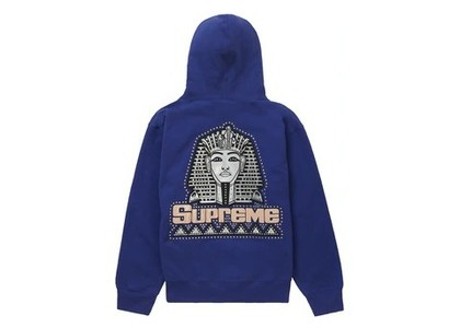 Supreme Pharaoh Studded Hooded Sweatshirt Washed Navyの写真