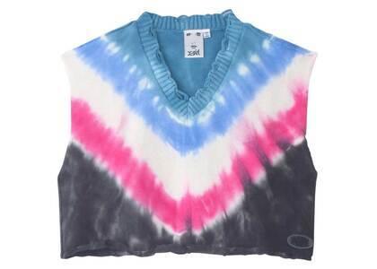 X-girl Tie Dye Knit Vest Lt Blueの写真