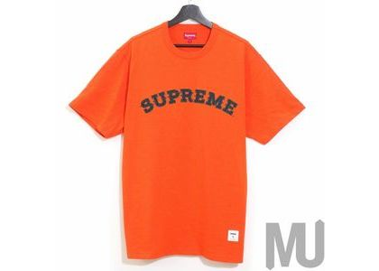 Supreme Plaid Applique S-S Top Orangeの写真
