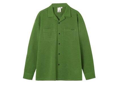 X-girl Jacquard Jersey L/S Shirt Greenの写真