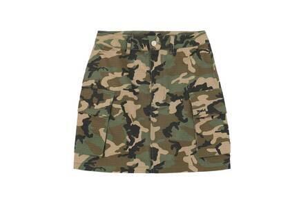 X-girl Military Cargo Mini Skirt Camoの写真
