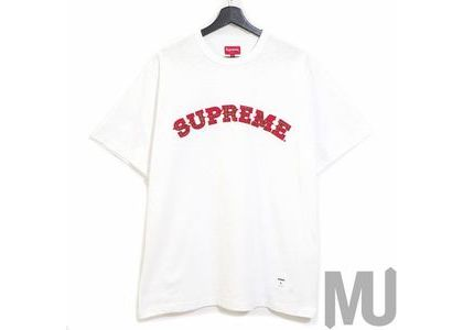 Supreme Plaid Applique S-S Top Whiteの写真