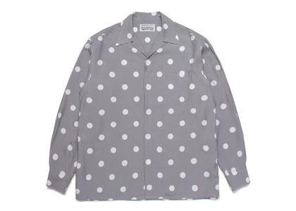 WACKO MARIA Dot Open Collar Shirt Grayの写真