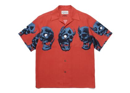 WACKO MARIA 56 Tattoo Studio Hawaiian Shirt Orangeの写真