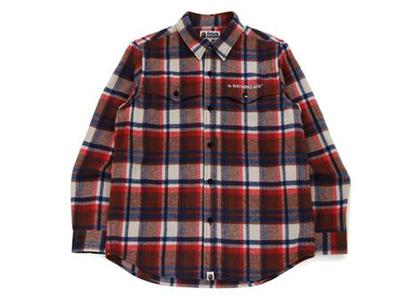 Bape Check Flannel Shirt Red (FW21)の写真