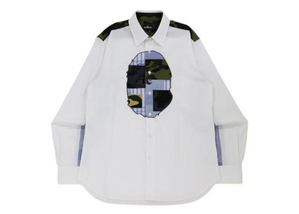 Bape Multi Pattern Shirt White (FW21)の写真