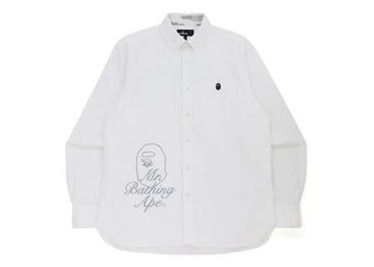 Bape Wide Logo Print Shirt White (FW21)の写真