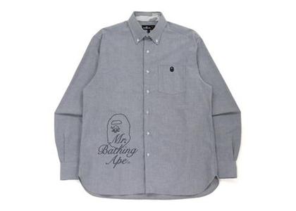 Bape Wide Logo Print Shirt Gray (FW21)の写真