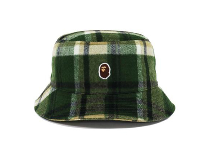 Bape Check Hat Olive Drab (FW21)の写真