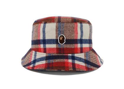 Bape Check Hat Red (FW21)の写真