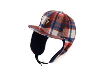 Bape Check Earmuffs Cap Red (FW21)の写真