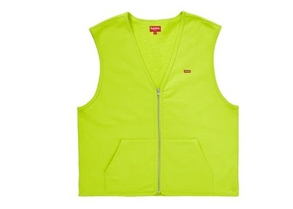 Supreme Zip Up Sweat Vest Acid Greenの写真