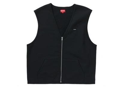 Supreme Zip Up Sweat Vest Blackの写真