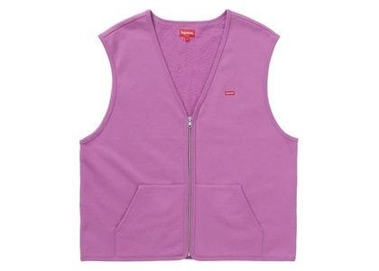 Supreme Zip Up Sweat Vest Bright Purpleの写真