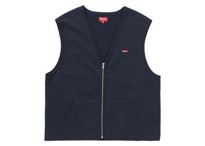 Supreme Zip Up Sweat Vest Navyの写真