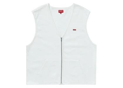 Supreme Zip Up Sweat Vest Whiteの写真