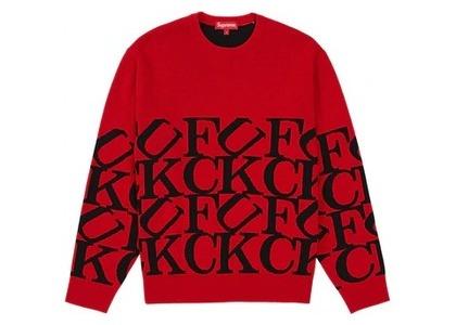 Supreme Fuck Sweater Redの写真