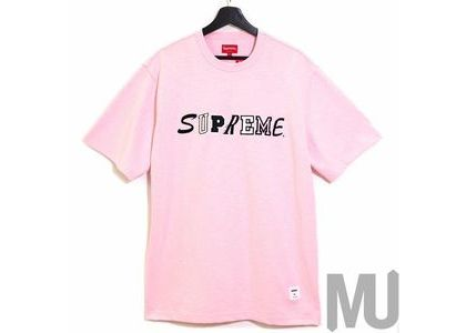 Supreme Collage Logo S-S Top Pinkの写真