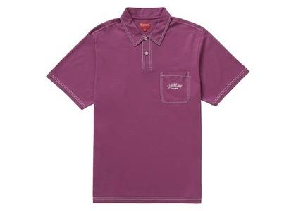Supreme Contrast Stitch Polo Purpleの写真