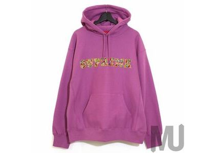 Supreme Jewels Hooded Sweatshirt (FW20) Bright Purpleの写真