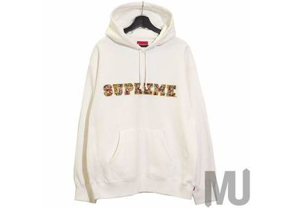 Supreme Jewels Hooded Sweatshirt (FW20) Whiteの写真