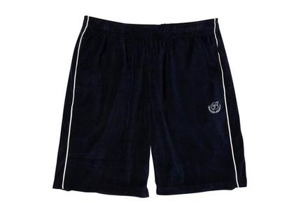 The Black Eye Patch B Emblem Piping Velour Shorts Navy (FW21)の写真